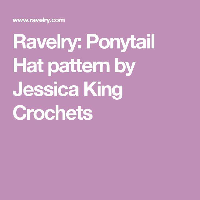 Ravelry: Ponytail Hat pattern by Jessica King Crochets