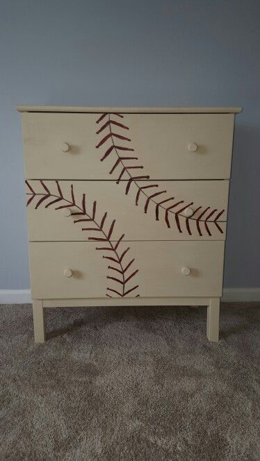 Painted baseball ikea dresser