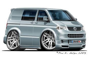 vw bus cartoon pictures | ... Sportline edition added to the CARTOON CARS / VOLKSWAGEN gallery