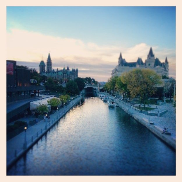 Ottawa, ON. Pictured here is the beloved Rideau Canal.
