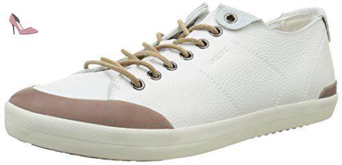 Geox U Smart E, Sneakers Basses Homme, Blanc (Whitec1000), 45 EU - Chaussures geox (*Partner-Link)
