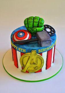 Avengers Cake, hopessweetcakes.com, Hope's Sweet Cakes