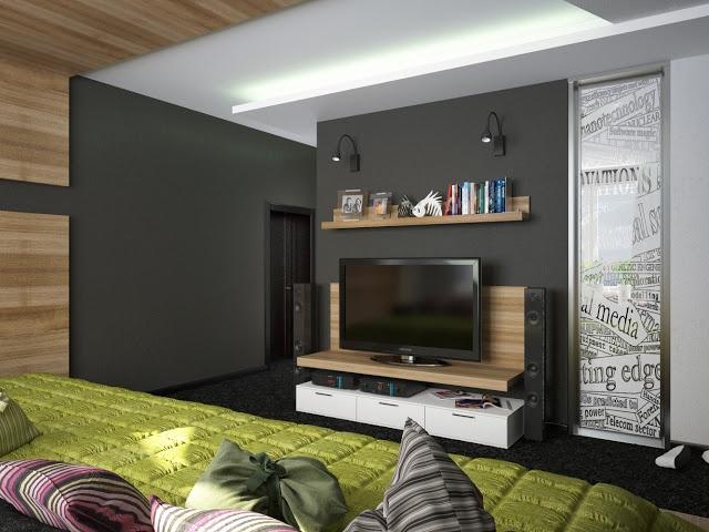 Дизайн интерьера и мыслетворчество.: Интерьер квартиры для молодого парня. Спальня.