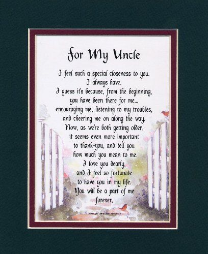 A Gift For An Uncle 70 Touching Uncle Poem Birthday Present >>> You can get additional details at the image link.