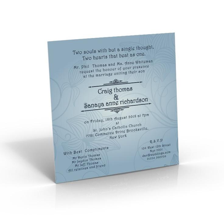 Square Wedding Invite - Blue Fantasy - Square    http://www.amazingweddingcards.com/blue-fantasy-square.html