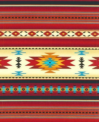 Marvelous NATIVE AMERICAN INDIAN BLANKET FABRIC