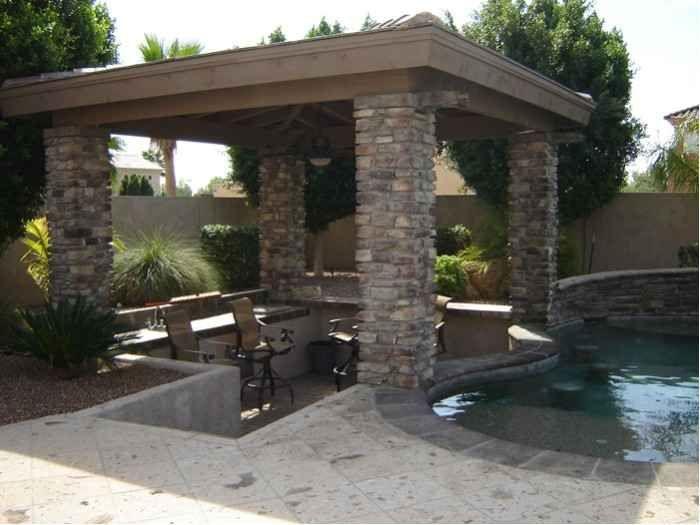Backyard Oasis - Shady Stone Ramadas in Glendale, Arizona   Desert Crest Press