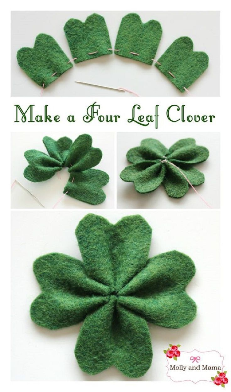Einfacher Filz-Kleeblatt für den St. Patrick's Da…