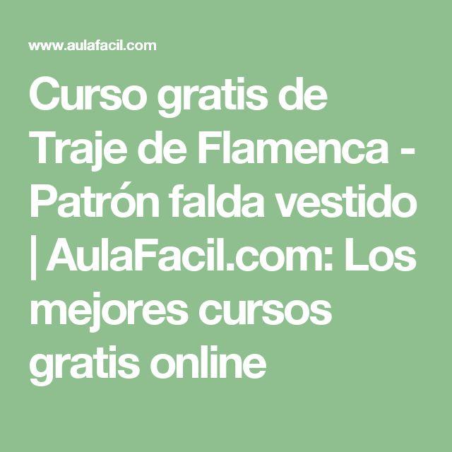 Curso gratis de Traje de Flamenca - Patrón falda vestido | AulaFacil.com: Los mejores cursos gratis online