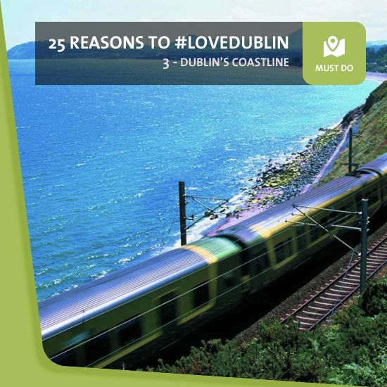 #3: Its coastline - Dublin's a great city – but it's so much more than that. Travel north or south of the city centre by DART rail service or by bike, and you'll find a sparkling string of coastal towns, beaches, harbours and bracing sea views. And where there's sea, there's great seafood!