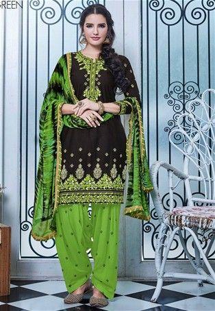 Black Cotton Patiala Salwar Suit #punjabisalwarKameez #patialasuit #nikvik #sale # dress #designer #usa #australia #canada #suits