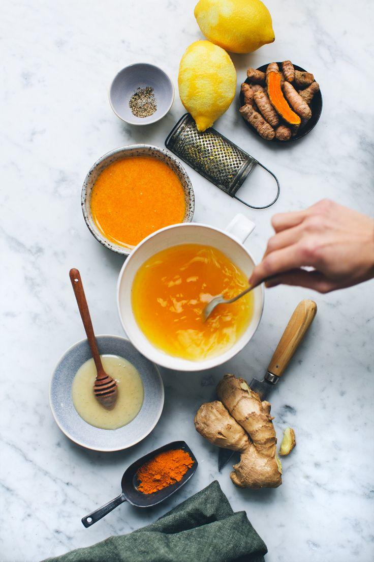 Ginger & Turmeric Honey Bomb for colds - Detox Tip - Detox with Drop Bottle…