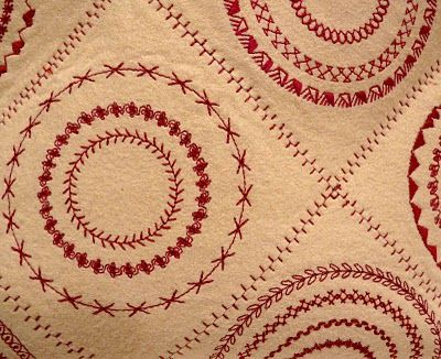 Jerisew(s): March 2011 - using circular attachment on sewing machine. Beautiful.