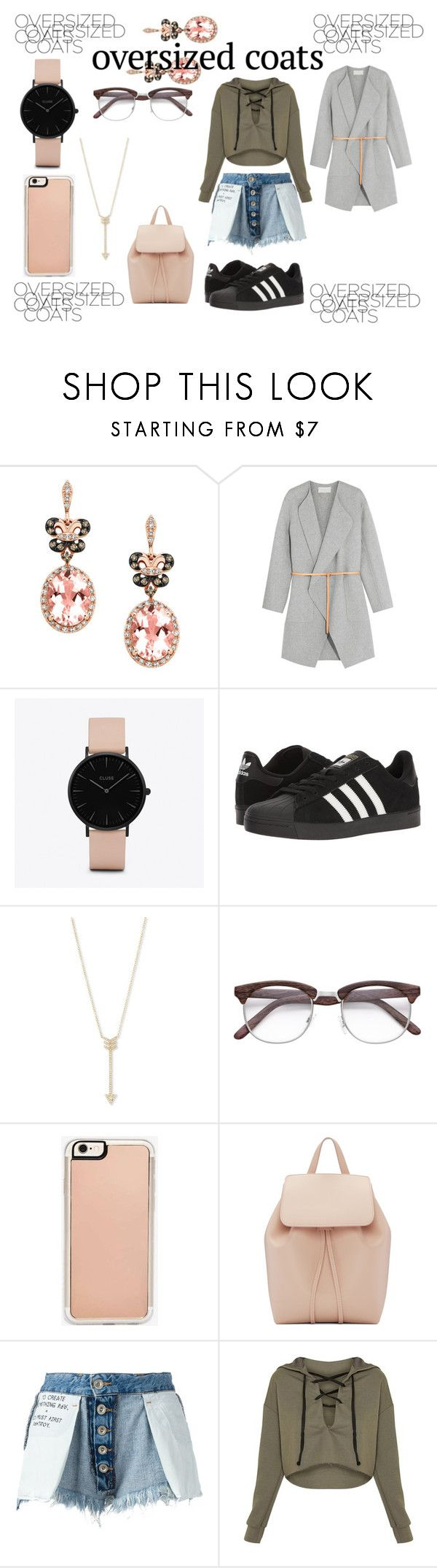 """It's Grey"" by starangel20 ❤ liked on Polyvore featuring Effy Jewelry, Vanessa Bruno, CLUSE, adidas, EF Collection, Zero Gravity, Mansur Gavriel and Unravel"