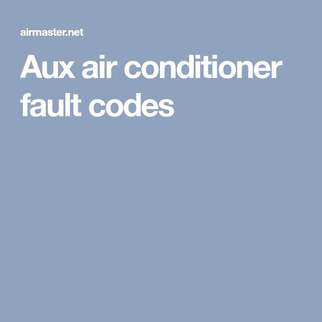 Aux air conditioner fault codes | AirMaster