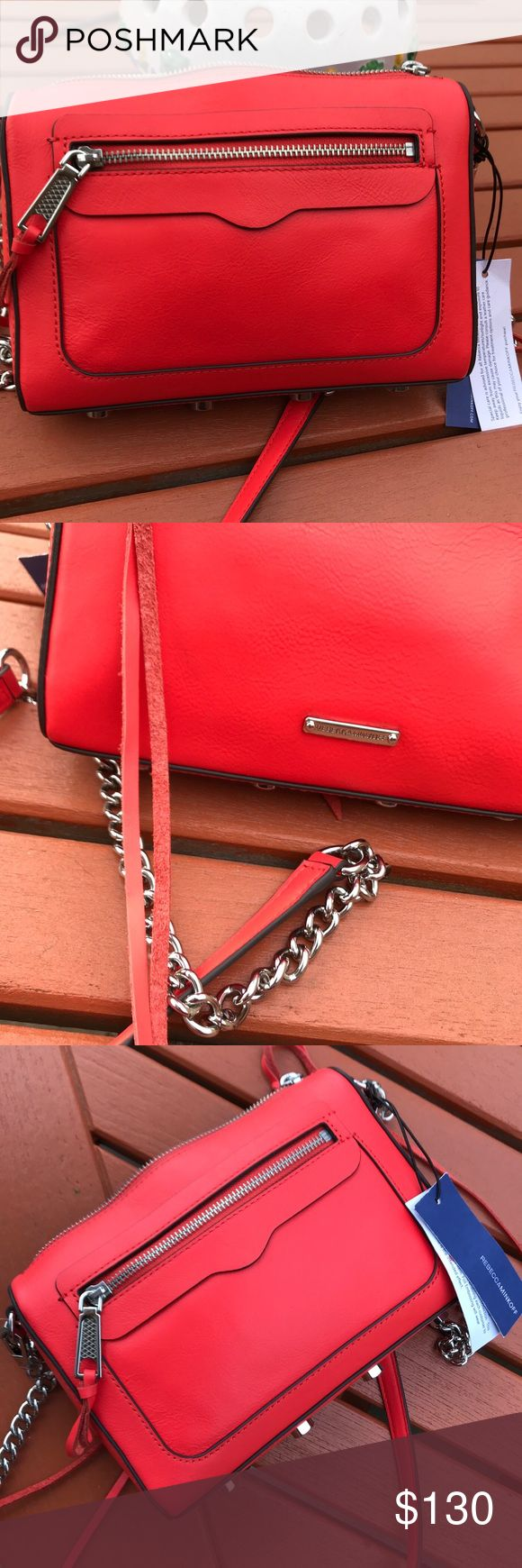 NWT Rebecca Minkoff Avery Crossbody Rebecca Minkoff   Blood orange color   Brand New with Tags   Comes with extra leather straps and booklet   Impecable Rebecca Minkoff Bags Crossbody Bags