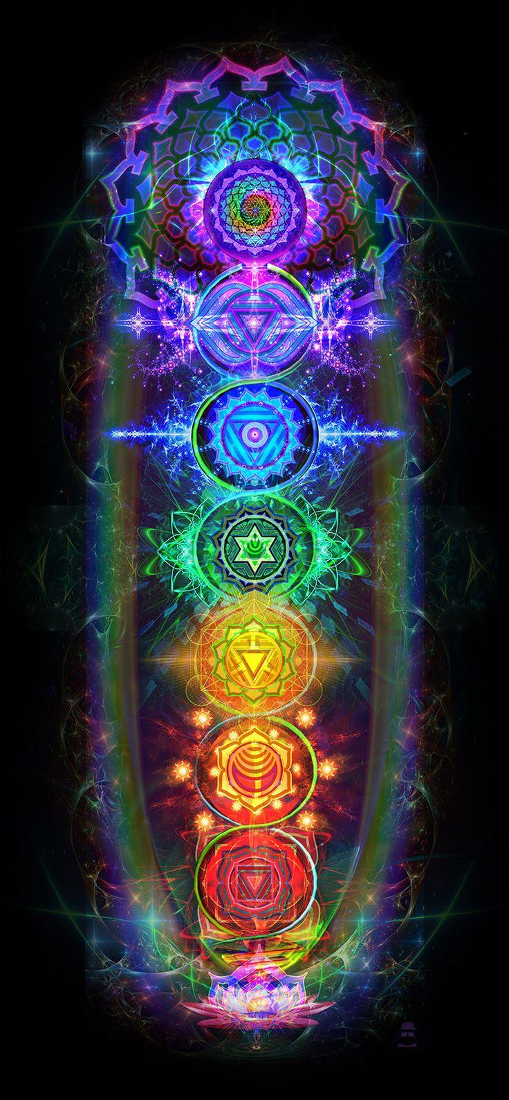 Chakras Tapestry | sacred geometry | Chakra art, Chakra ...