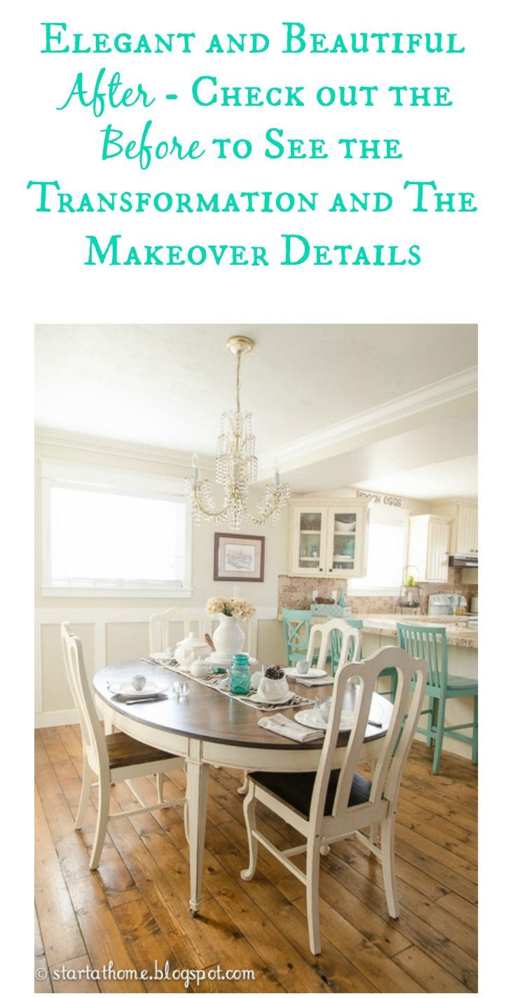Oval Dining Table Makeover