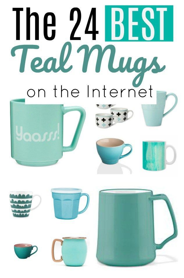 A round-up of the 24 best teal mugs on the internet