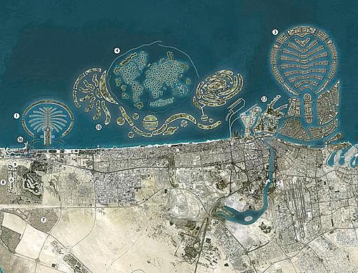 One of the best things of Dubai is the views as you fly in. Desert turning into city into beautiful islands. - Dubai, United Arab Emirates