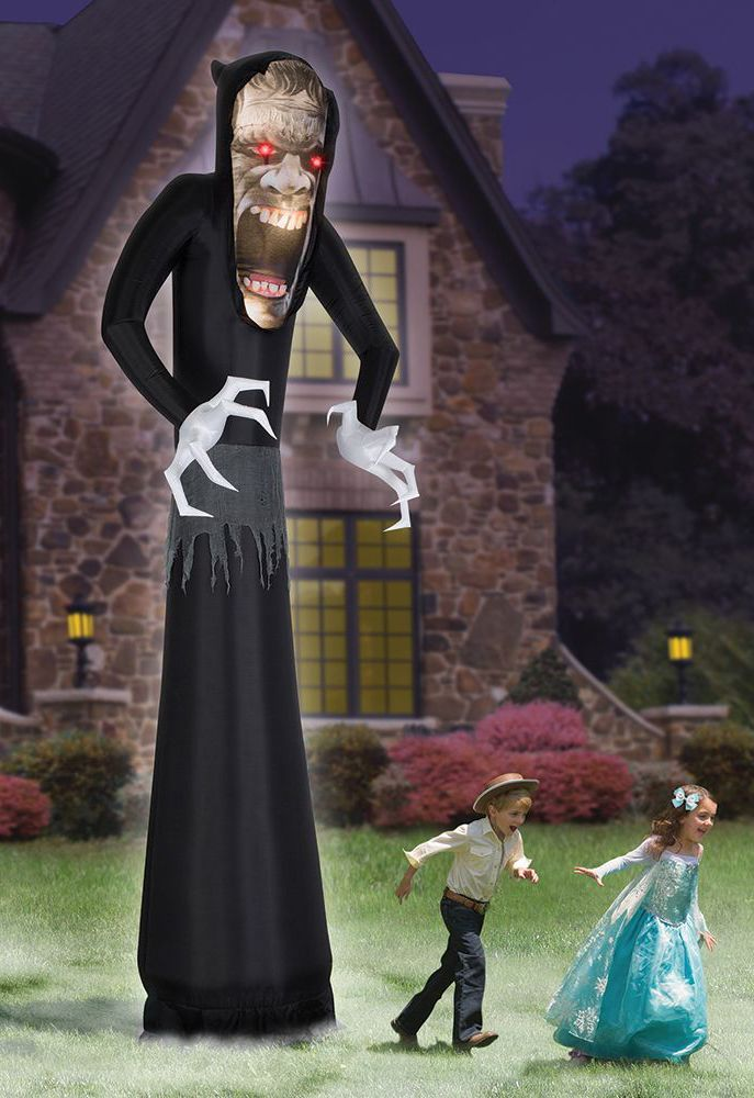 the inflatable grasping ghoul inflatable outdoor halloween decoration