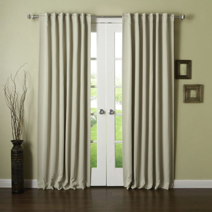 Home Fation Thermal Insulated Blackout Curtains, Grommet Top, Black, 52 Inch x 63 Inch, No Tiebacks, Set of 2 Panels