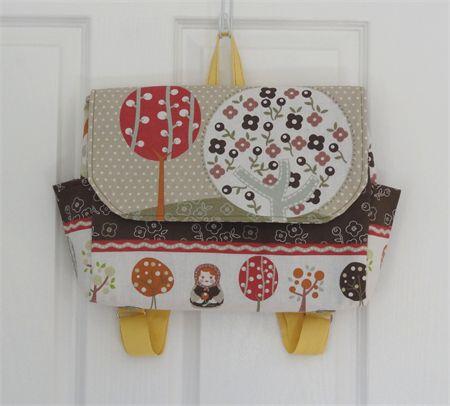 Woodland Babushka  Satchel Style Backpack