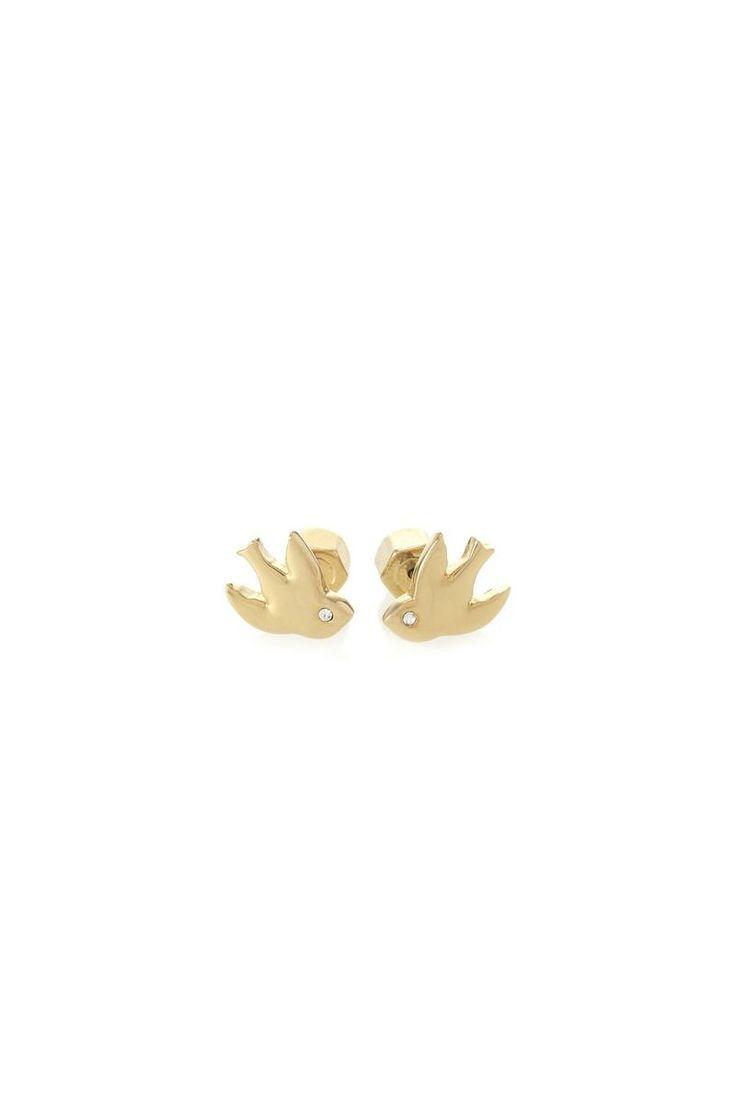 petal to the metal, birds, stud, earrings,