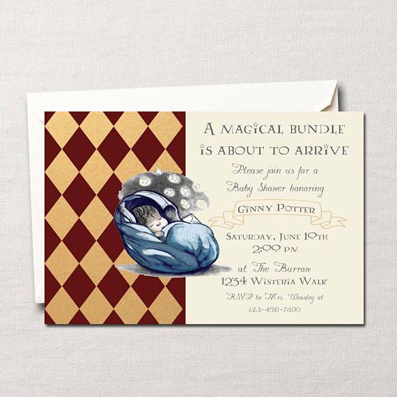 harry potter baby shower invitation garon ou fille