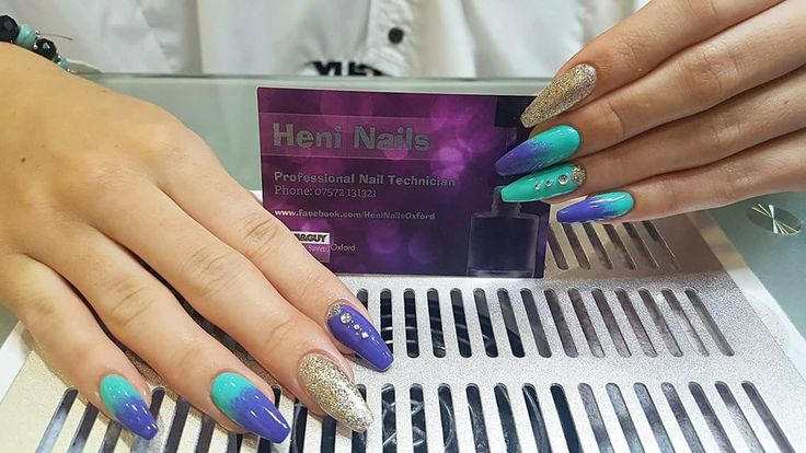 beautiful stand out ombre/dip dye nails 💅 by heni nails toni and guy oxford