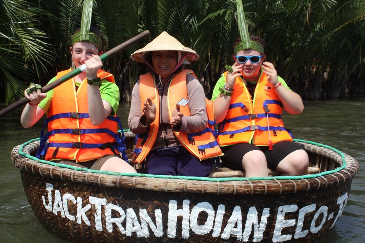 Paddling through water coconut groves. #VietnamSchoolTours #EcoTour