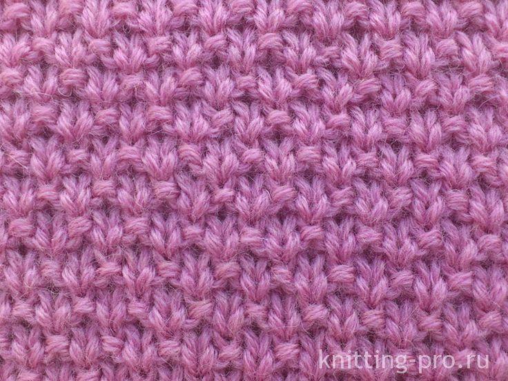 """Узор """"Мох"""" - knitting-pro.ru - От азов к мастерству"""