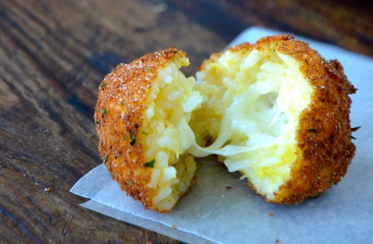 Bring the oil to a boil for classic Italian arancini (rice balls) stuffed with mozzarella and served with marinara sauce.