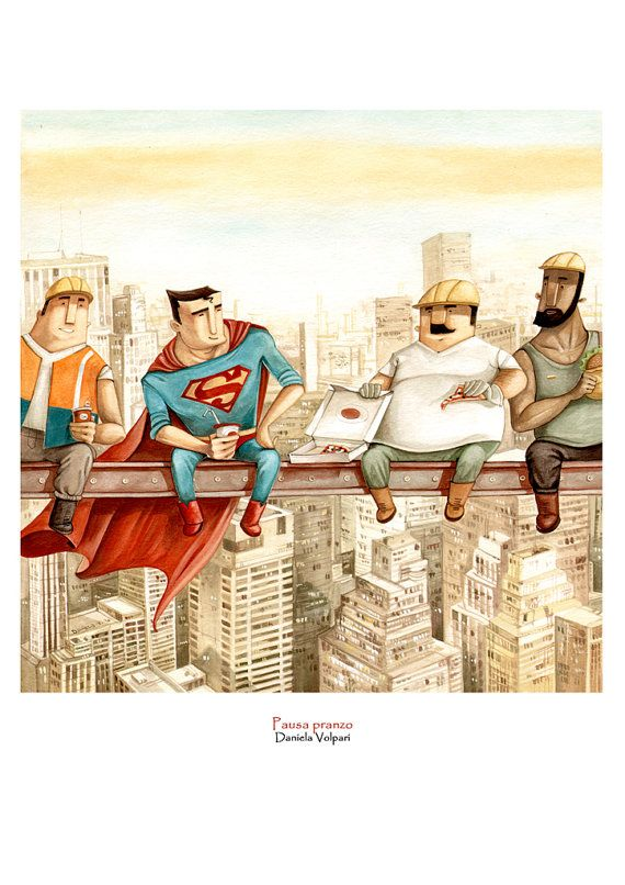 Totally how I would hang-out, if I was Superman (available as a print on Daniela Volpari Etsy)