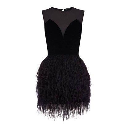 Warehouse Feather Dress
