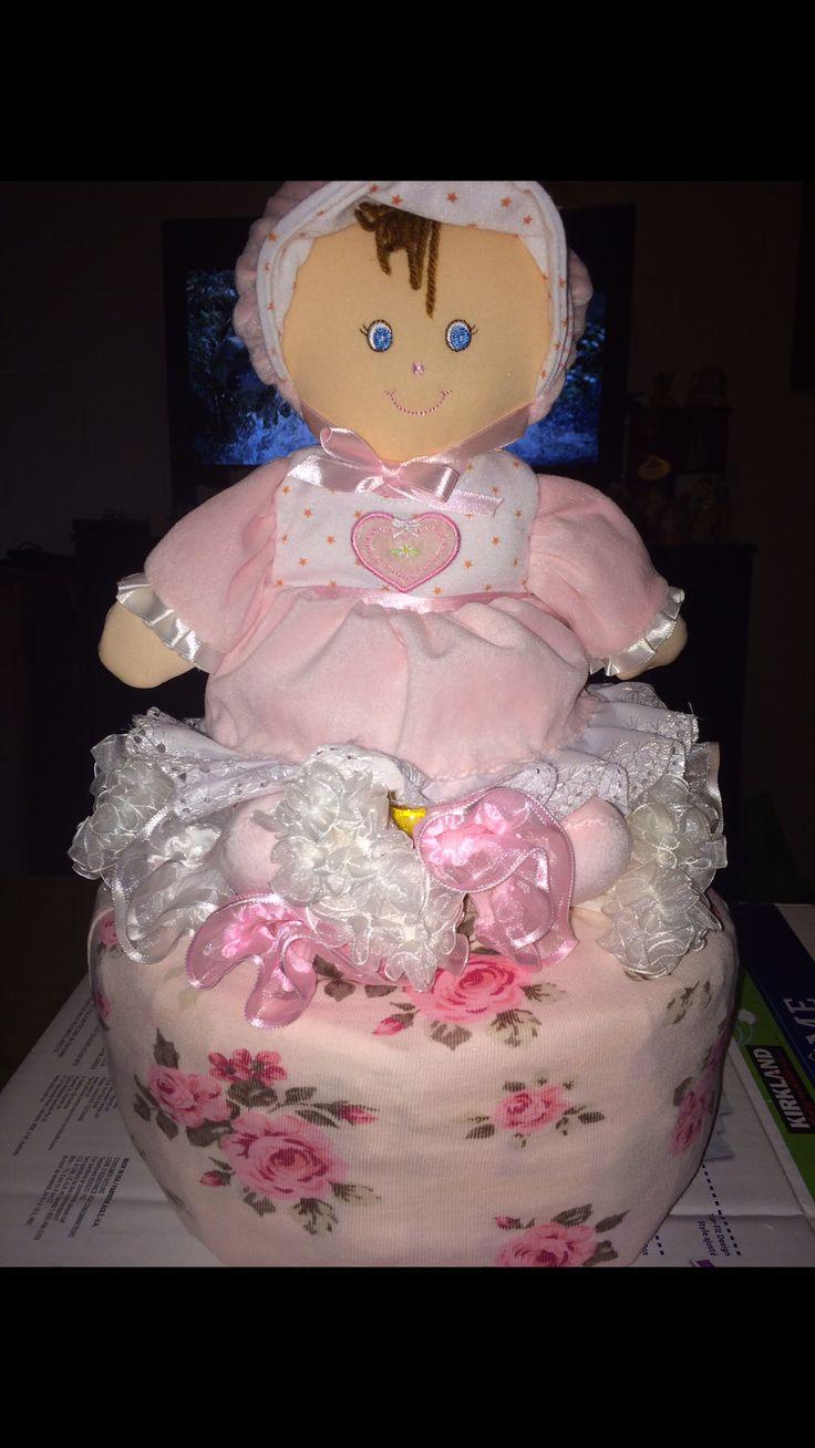 Short stack ~ diaper cake for girls~baby shower