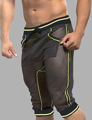 Herren Lange Unterhosen Netz