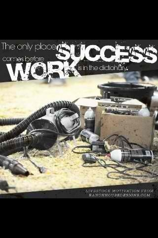 The only time success becomes before work is in the dictionary.
