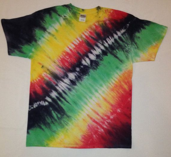 New Tie Dye Rasta Shirt! We can make this is any size and we also do custom orders! #tiedye #tshirt #shirt #rasta #bobmarley #onelove #oneheart #tiedyeshirt #colorful #bright #large