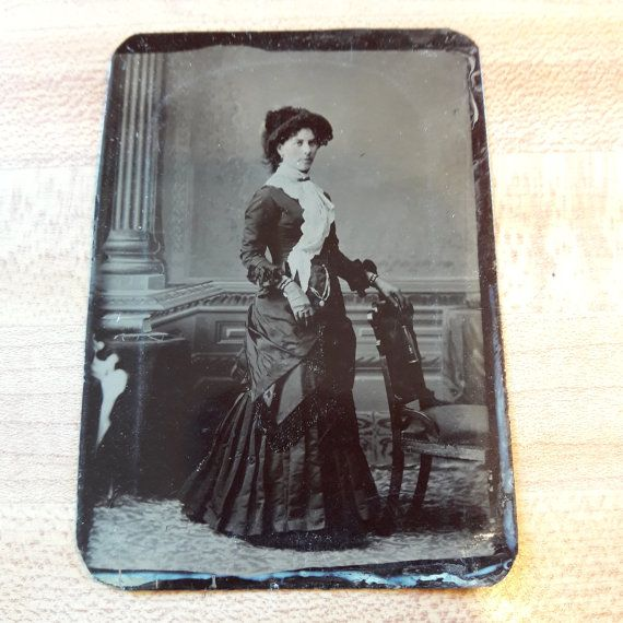 Antique Primitive Tin Type Picture Photograph From by oldstuffbrad
