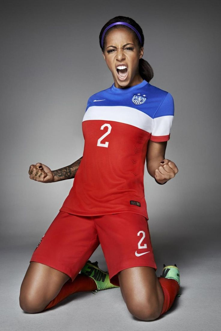 Sydney Leroux in new USA away kit. (Nike)