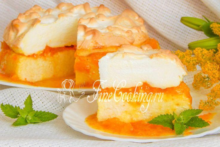 Творожная запеканка с апельсинами и меренгой - рецепт с фото