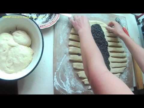 Плетенка из теста. Braid the dough. - YouTube