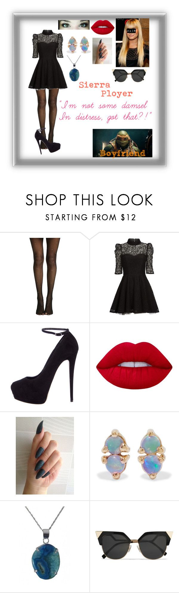 """""""*TMNT 2014: Sierra Ployer*"""" by blissfull-darkness ❤ liked on Polyvore featuring Hot Topic, Mairi Mcdonald, Giuseppe Zanotti, Lime Crime, WWAKE and Fendi"""