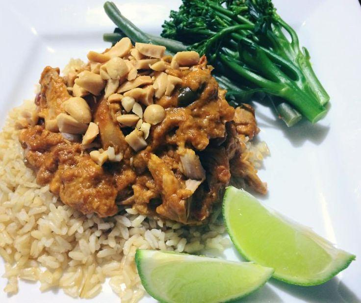 CROCKPOT RECIPE:Thai Peanut Chicken |