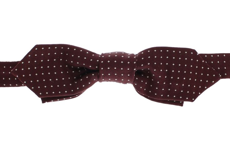 Bordeaux Polka Dot 100% Silk Neck Bow Tie