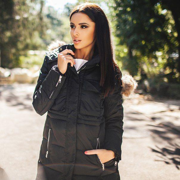 Зимняя куртка пальто Helen черная
