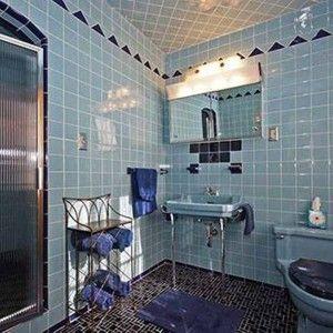 I'd have it in pastel orange ---1950s Retro Bathroom , Retro Style Bathroom In Bathroom Category