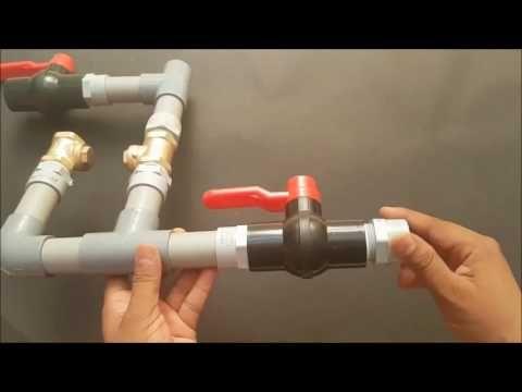 Como fazer uma bomba de água sem uso de energia elétrica (Carneiro hidráulico) - YouTube