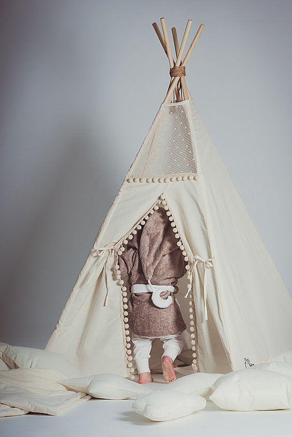 Kids robes Moon tan brown white  Lounge robe Toddler by CotandCot